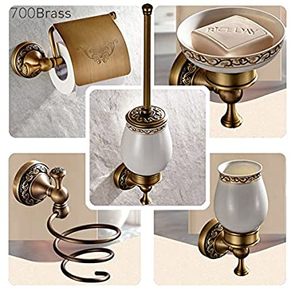 Buy Buyworld Bathroom Accessories Antique Brass Collection Towel Ring Paper Holder Toilet Brush Coat Hook Bath Rack Soap Dish Faucet Online At Low Prices In India Amazon In