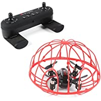 le-idea IDEA2 Mini Toy RC Drones Quadcopters in Cage for Kids Beginners,Headless Mode,Altitude Hold Mode,360°Rolling,One Key to Return,2.4Ghz 4CH 6 Axis LED,Bonus Battery,Black