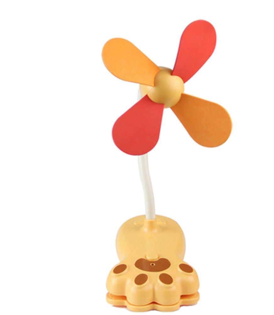 Blancho Noiseless Mini Clip-On Fan, Claw type(yellow) Blancho Bedding