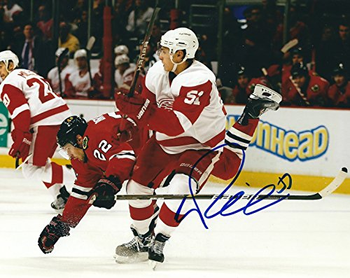 Red Detroit Photograph Wings - Autographed VALTERRI FILPPULA 8x10 Detroit Red Wings Photo
