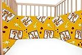 Baby Giraffes/SoulBedroom Cotton Cot Bumper Pad Half (210x40 cm)