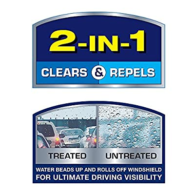 Rain-X 5079273-2 2-in-1 Latitude Water Repellency Wiper Blade 15-Inch, 1 Pack: Automotive