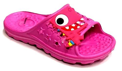 dema - Zapatillas de Estar por casa de Caucho para niña Rosa Fucsia 34 EU: Amazon.es: Zapatos y complementos