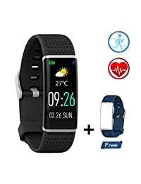 Fitness Tracker with Heart Rate Monitor IP67 Waterproof Sleep Monitor Smart Watch Android & iOS