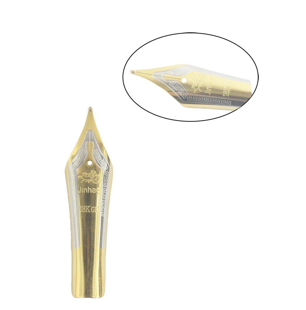 pennino in piegato oro Gullor 5PCS pennini penna stilografica adattano Jinhao 159//450//750