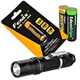 Bundle with Fenix LD09 2015 220 Lumen LED tactical flashlight with ARB-L14 type 14500 rechargeable li-ion battery and EdisonBright AA Alkaline battery