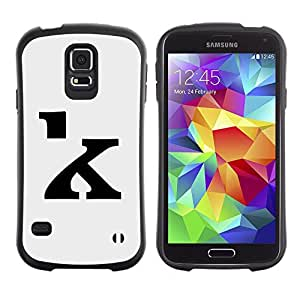 Paccase / Suave TPU GEL Caso Carcasa de Protección Funda para - K Calligraphy Letter Initial Grey Black - Samsung Galaxy S5 SM-G900