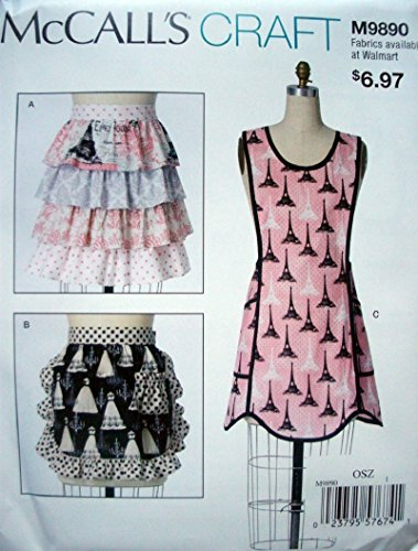 Pattern Aprons Misses (McCalls Craft Pattern 9890 Misses Aprons Size S-M-L Designed for Woven Fabrics)