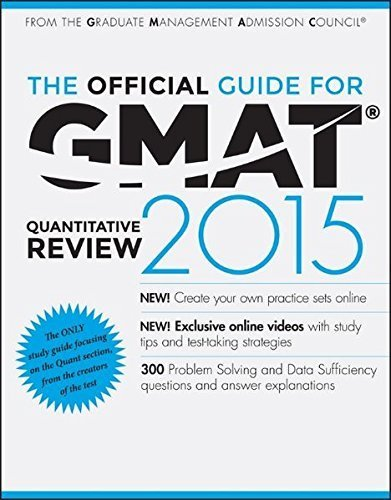 Read Online By GMAC (Graduate Management Admission - The Official Guide for GMAT Quantitative Review 2015 with Online (3rd Edition) (2014-07-23) [Paperback] PDF