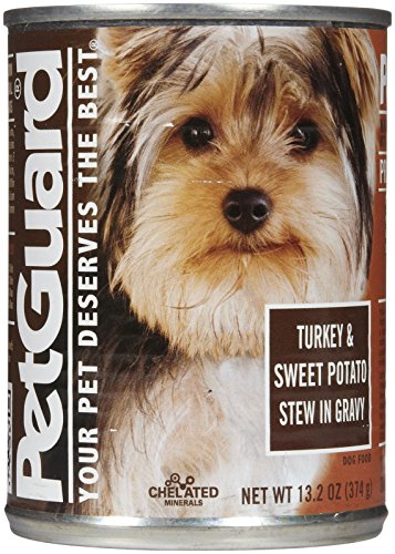 Pet Guard Turkey and Sweet Potato Stew in Gravy Grain-Free Canned Dog Food, 13.2 oz.