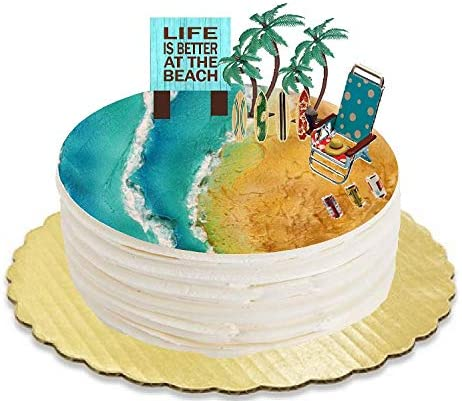 Fondant Under The Sea Cake Toppers or Surfboards Decoration Beach Cake Decoration