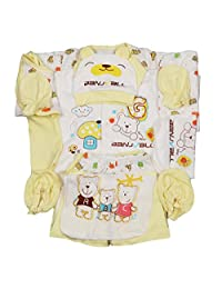 Peak Newborn Essential Clothes 18pcs Unisex-Baby Layette Gift Set Infant Bodysuit 0-3 Month Yellow