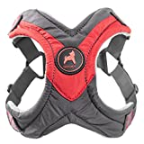 Gooby - Trekking Harness, Small Dog Fleece Lined Harness with Memory Foam Padding, Red, X-Large