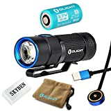 Olight S1R Baton Cree XM-L2 LED 900 Lumens Rechargeable EDC Flashlight With 550mAh RCR123A Battery and SKYBEN Accessory