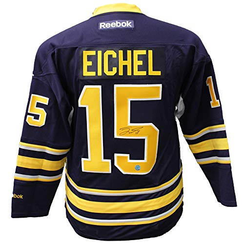 Jersey Autographed Authentic Reebok Blue (Jack Eichel Buffalo Sabres Autographed Signed Blue Reebok Premeir Hockey Jersey - Certified Authentic)