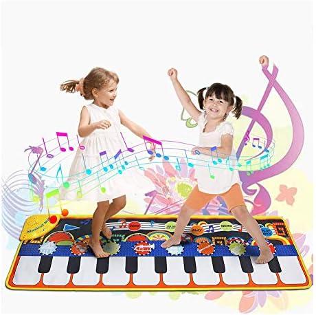 クリスマスのためのピアノマット、幼児音楽タッチカーペット子供向け3年間のゲームのブランケット玩具楽器玩具ベビーマットグレート誕生日プレゼント