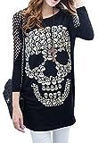 Ro Rox Women's Gothic Punk Women's Big Skull Top (XXL - US 16)