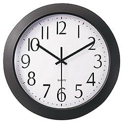 Thanwa Market Universal 10451 Whisper Quiet Clock, 12-Inch, Black