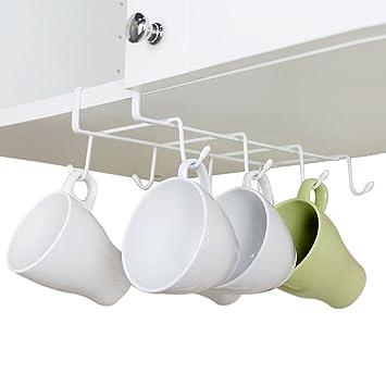 Amazon.com - GeLive Under Cabinet Mug Holder Hook Drying Rack ...