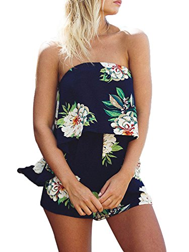 Pagliaccetto Breve Spalla Marina Sovrapposizione Maniche Abbigliamento Simplee Tuta Donna Off SxtHnXw
