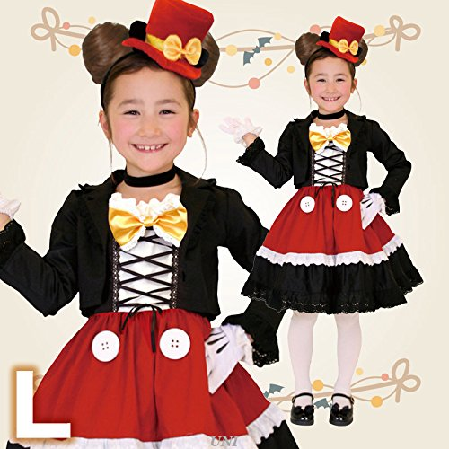 Children's Gothic Mickey L Gothic Costume - Child Mickey (Gothic Disney Characters)