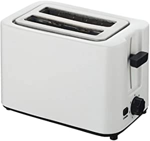 KLYHCHN Toaster Removable Crumb Tray, Compact Stainless Steel Toaster Automatic Toaster Toaster Automatic Toaster with Roll Roasting Attachment Stainless Steel Electric Bread (White)