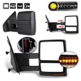 ECCPP Towing Mirrors for 2004-2014 F150 Pickup Side View Mirrors Power Heated Towing Led Turn Signal Pair