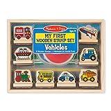 Melissa & Doug First Wooden Stamp Set – Vehicles