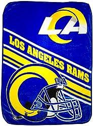 "NFL Team Logo Slant Raschel Throw Blanket, 60"""