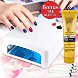 uv lamp for gel nails opi - Get A Perfect Manicure At Home With UV Nail Polish Dryer For Gel And Acrylic Manicure Pedicure Electric Portable 36W LED Curing Lamp Quick Dry For Fingernail And Toenail + European Hand Cream + E-Book