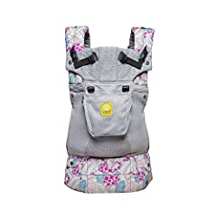 This top-rated baby carrier includes EVERYTHING: six ways to carry your baby, unique lumbar support, headrest, sleeping hood for support & sun protection (UPF 50+), zippered pocket, dual adjustable straps for easier breastfeeding, generou...