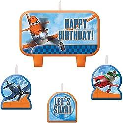 1 X Disney Planes 2 Birthday Candle Set - 4 pcs by Amscan