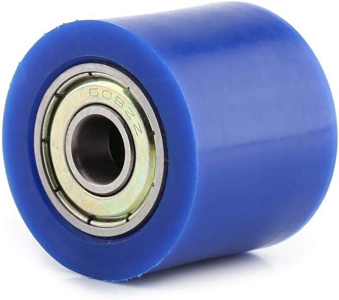 10mm Drive Chain Polea Roller Slider Roller Tensor Rueda Gu/ía para Street Bike Motocicleta ATV Qiilu 8mm 8MM-Rojo