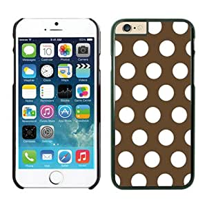 Iphone 6 Case 4.7 Inches, Polka Dark Brown and White Dot Unique Black Phone Protective Speck Cover Case for Apple Iphone 6