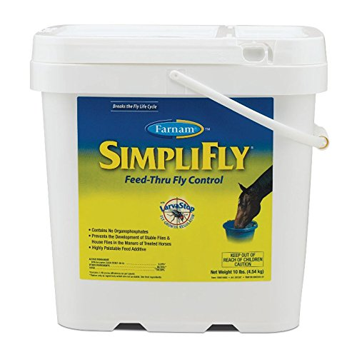 Farnam SimpliFly Feed-Thru Fly Control for Horses, Breaks and Prevents the Fly Life Cycle, 10 pound