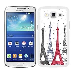Funda carcasa para Samsung Galaxy Grand 2 diseño estampado parís Torre Eiffel borde blanco