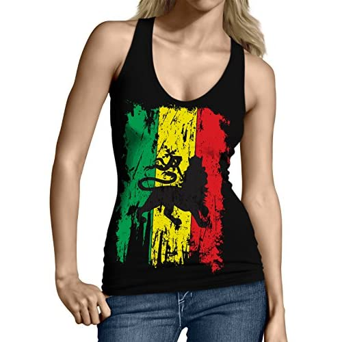 504edb129b5 ecolore Women's Fashion Caribbean Jamaica Flag Bikini Swimsuit ...