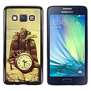 Be Good Phone Accessory // Dura Cáscara cubierta Protectora Caso Carcasa Funda de Protección para Samsung Galaxy A3 SM-A300 // Time Painting Deep Meaning Nature Vignette