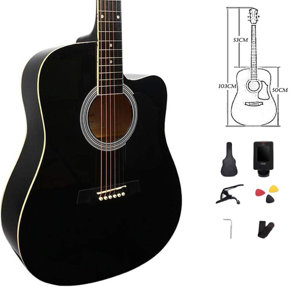 Guitarra Acústica Clasica Principiante 6 Cuerdas De Acero Cortar Acorazado Portátil Guitarra De Viaje Compañera De Musica Regalo Correa Bolso Recoger, 3 Colores Gdming