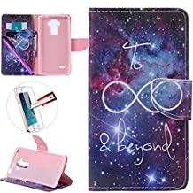 LG G4 Stylus LS 770 Case, ISADENSER Premium Mobile Cover Protect Skin Leather Cases Covers With Card Slot Holder Wallet Book Design For LG G Stylo LS770, Starry Sky