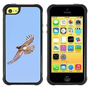 Suave TPU GEL Carcasa Funda Silicona Blando Estuche Caso de protección (para) Apple Iphone 5C / CECELL Phone case / / hawk flight birds blue sky wings nature /