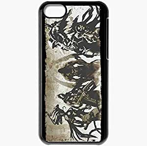 Personalized iPhone 5C Cell phone Case/Cover Skin 4 Horsemen Black