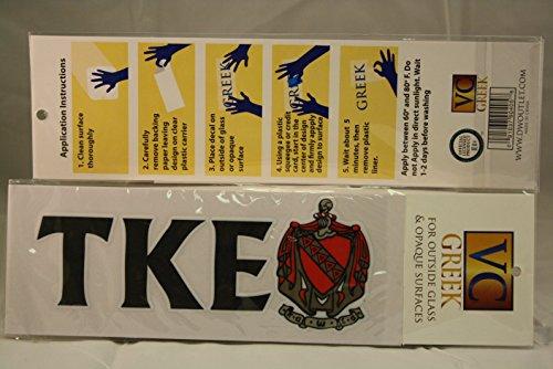 Tau Kappa Epsilon Sticker of Letters & Crest for Outside Glass, Car, Tablet (Sticker Crest)