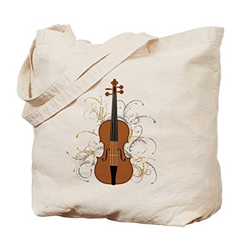 CafePress–Violín (de espirales para colores oscuros)–Gamuza de bolsa de lona bolsa, bolsa de la compra