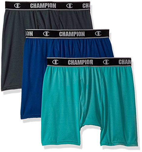 e Performance Boxer Brief Stealth/Teal, Winter River Upbeat, Large ()