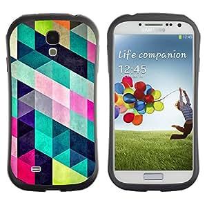 Fuerte Suave TPU GEL Caso Carcasa de Protección Funda para Samsung Galaxy S4 I9500 / Business Style Pattern Design Fashion Colorful