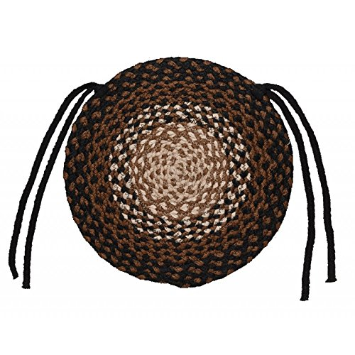 IHF Home Decor Braided Rug Round Chair Cover Pads 15'' New Stallion Design Jute Fabric Set of 4 by IHF Home Decor (Image #6)