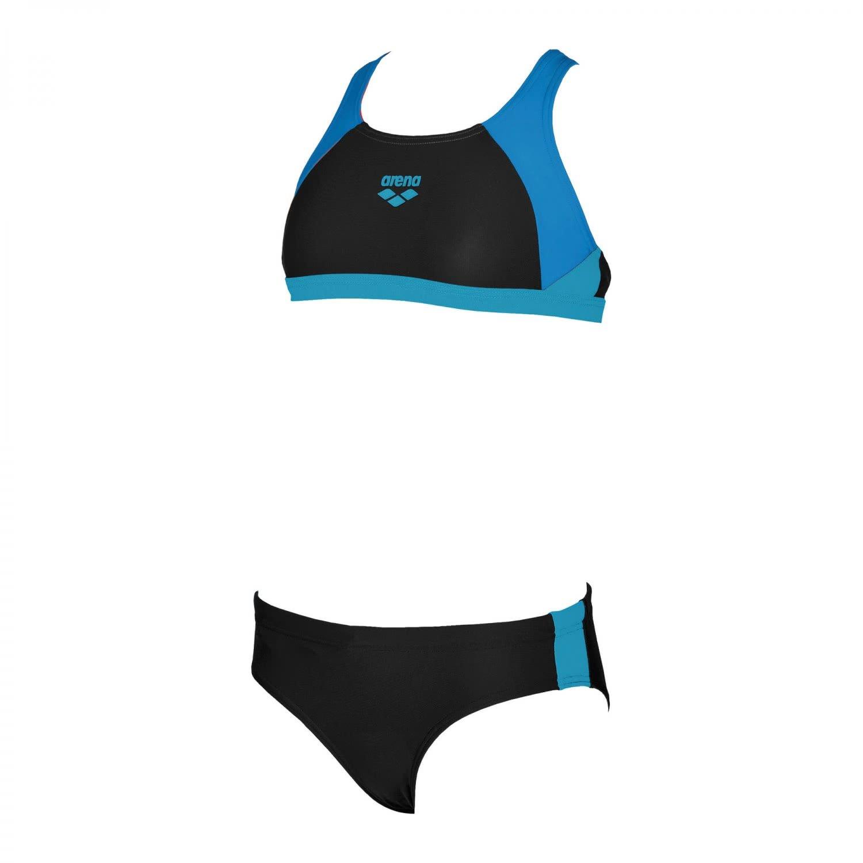 arena Mädchen Sport Bikini Ren (Schnelltrocknend, UV-Schutz UPF 50+, Chlor-/Salzwasserbeständig) 000994