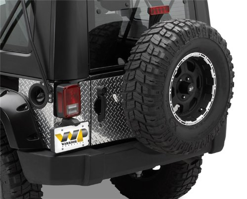 Warrior Products 920D-1 Tailgate Cover without Center for Jeep JK 07-10 ()