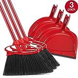 O-Cedar Angler Angle Broom with Dust Pan (Pack of 3)